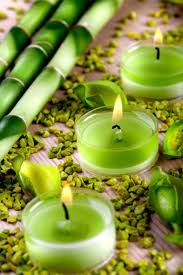 green bamboo:candles